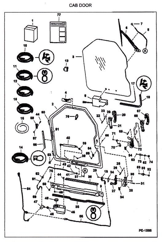 bobcat 863 parts diagram 2000 ford expedition ignition wiring door & 6715157 rear back striker 864 873 963 7753 t200 latch sc 1 ...
