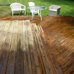 Wooden Patio, Half Pressure Washed