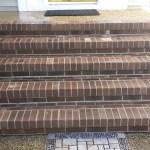 Clean Brick Steps after Pressure Washing
