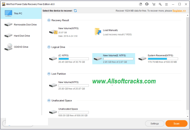 MiniTool Power Data Recovery 8.5 Crack With Product Key 2019 Download