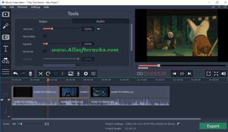 Movavi Video Editor 21.1.0 Crack + Activation Code 2020 [Mac/Win]