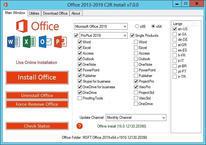 Microsoft office 2016 Crack With Activator+product key Full