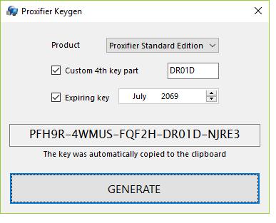 Proxifier registration key