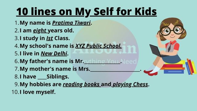 My Self Introduction for Kids