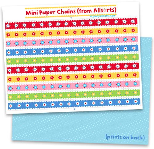 pretty paper chains to