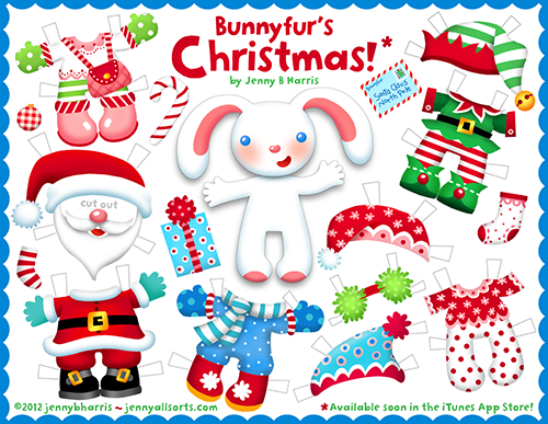 Printable Christmas Paper Doll Allsorts