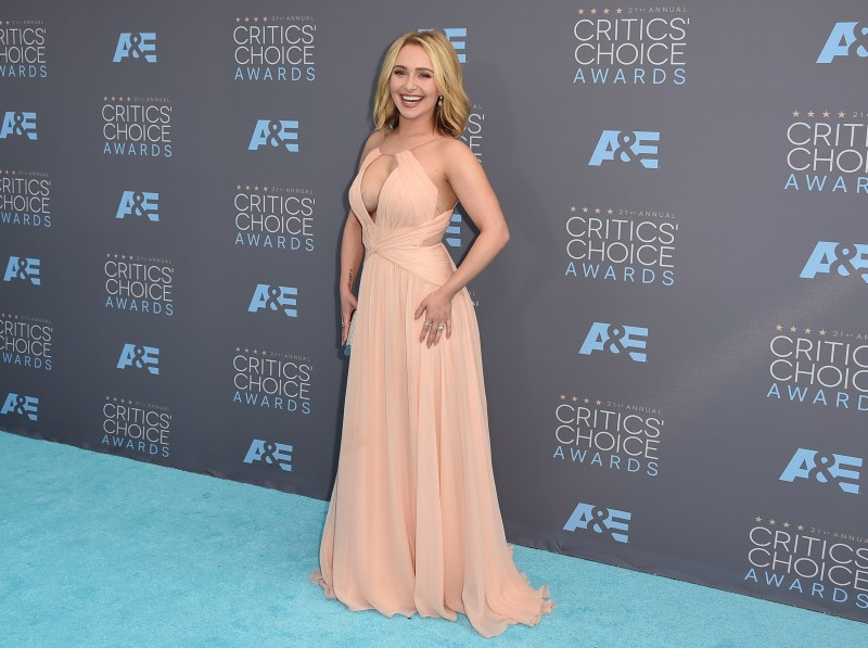 Hayden Panettiere arrives at the 21st Annual Critics' Choice Awards in Santa Monica