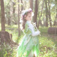 There, in the woods, a flower fairy!