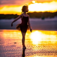 Ballerina in the Sunset