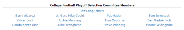 Playoff Committee
