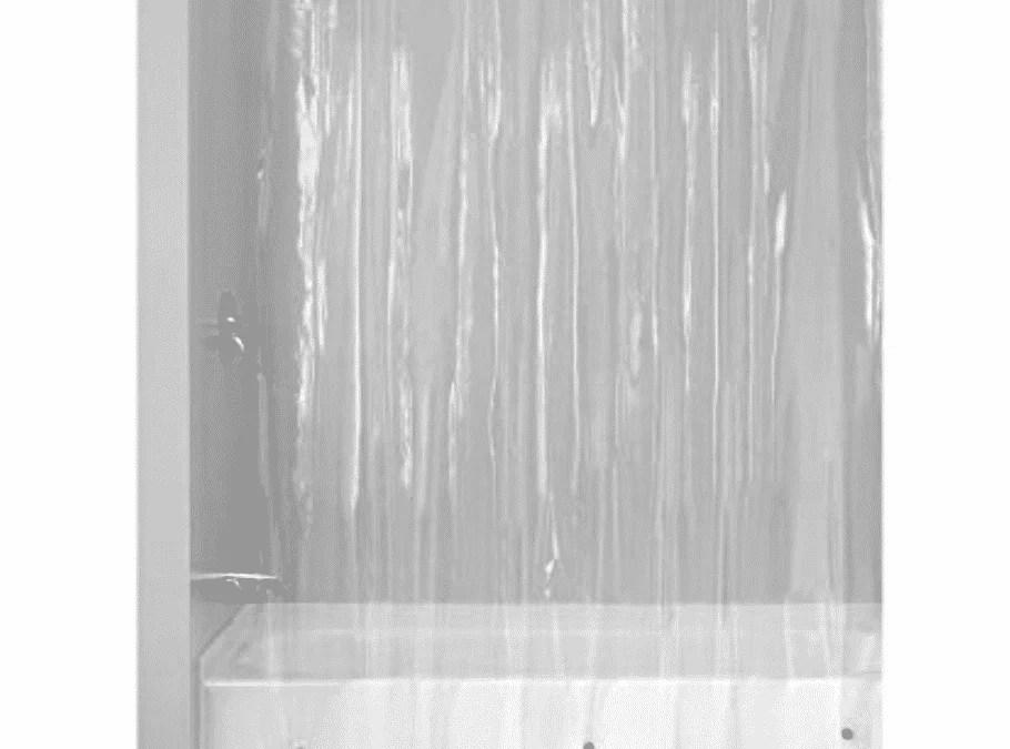 plastic shower curtains clean