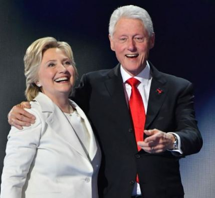 Hillary Clinton with her husband, Bill Clinton
