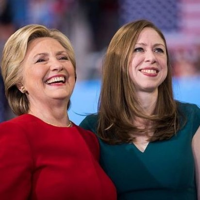 Hillary with her daughter, Chelsea Victoria