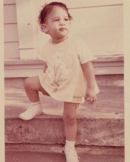 Kamala Harris in her childhood days