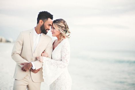 Kristen Ledlow on the day of her wedding with Kyle Anderson