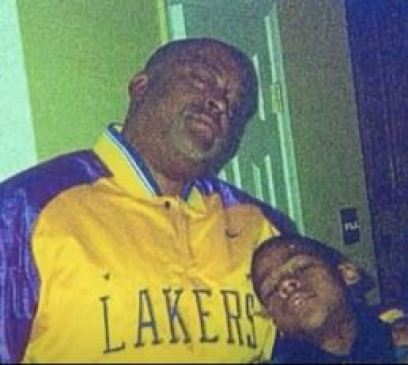 Kevin in his childhood with his father