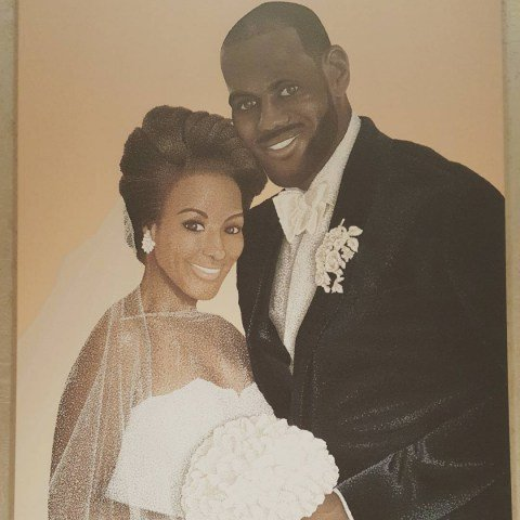 The happily married couple Savannah & LaBron James