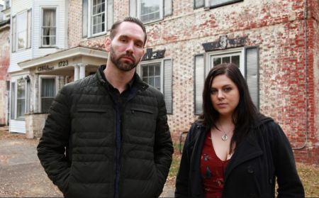 Photo of Katrina Weidman and her co-star, Nick Groff.