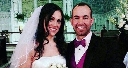 Jenna Vulcano with her ex-spouse, James Murray on the day of their wedding