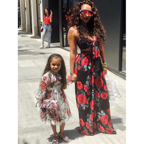 Nia Guzman with her daughter