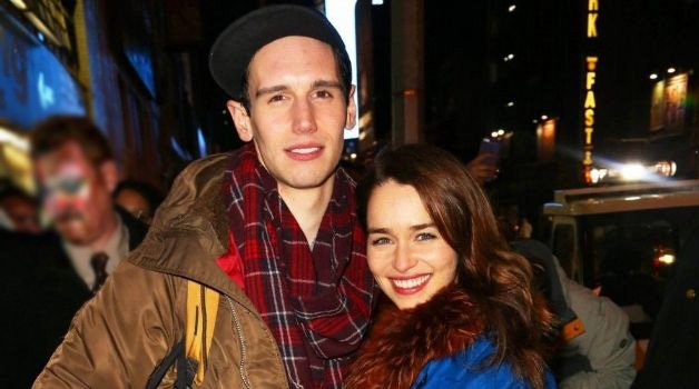 Cory Michael Smith with his former girlfriend Emilia Clarke