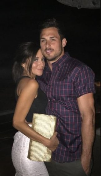 Kay Adams with her boyfriend, Danny Amendola.
