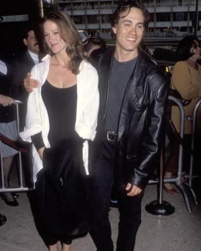Eliza Hutton and Brandon Lee