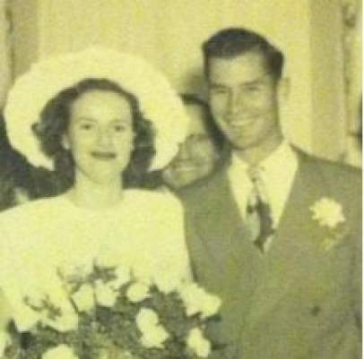Russell Rhodes posts a picture of his parents wedding on the father's day
