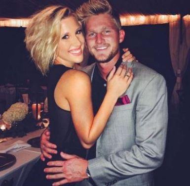 Blaire Hanks with his former girlfriend, Savannah Chrisley