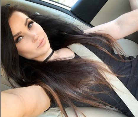 Niece Waidhofer inside her car