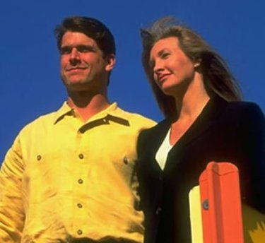Miah Harbaugh with her former husband, Jim Harbaugh