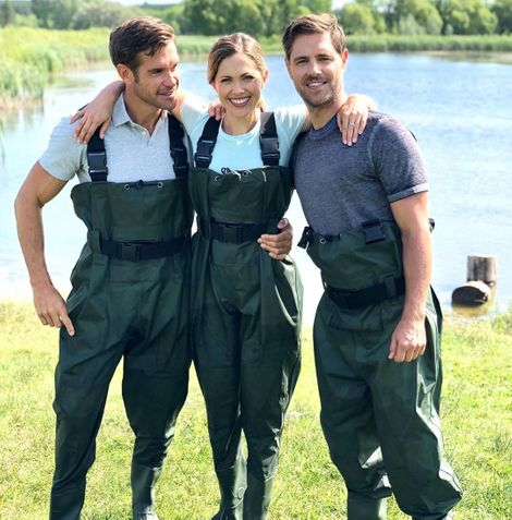 Stephen Huszar with his co-stars Pascale Hutton & Sam Page