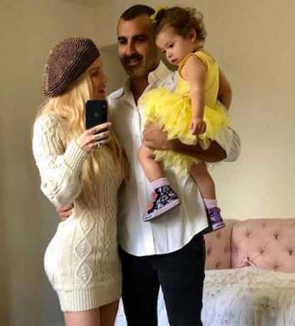 Lior Bitto with his partner, Jenna and their daughter, Batel Lu Bittion