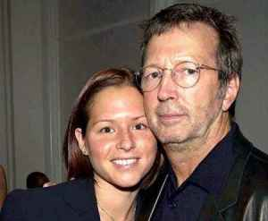 Melia and Eric Clapton Together in a frame