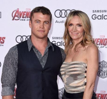 Samantha with her husband, Luke Hemsworth