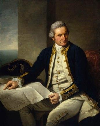 Official portrait of Captain James Cook