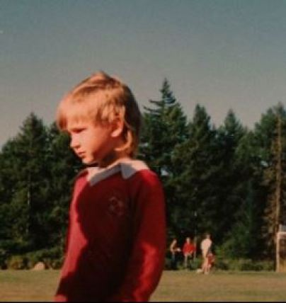 The childhood picture of Greyston Holt