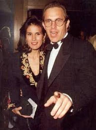 Cindy Costner with her ex-husband, Kevin Costner
