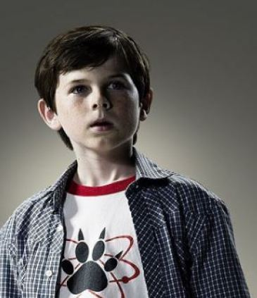 The childhood picture of Chandler Riggs