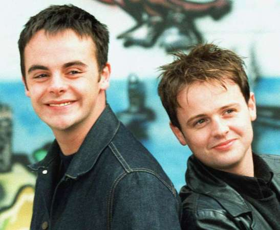Photo of Anthony McPartlin and his partner Donnelly when they were young.