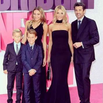 Jillian Fink with her husband, Patrick Dempsey and Children