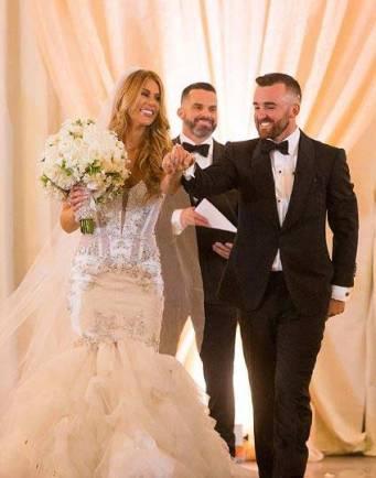 Whitney Ward and her husband, Austin Dillion on their Wedding