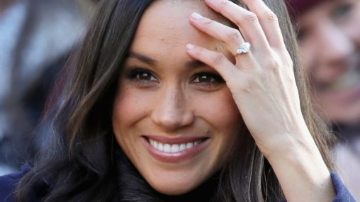 Meghan Markle's Diamond Ring gifted by Prince Harry.