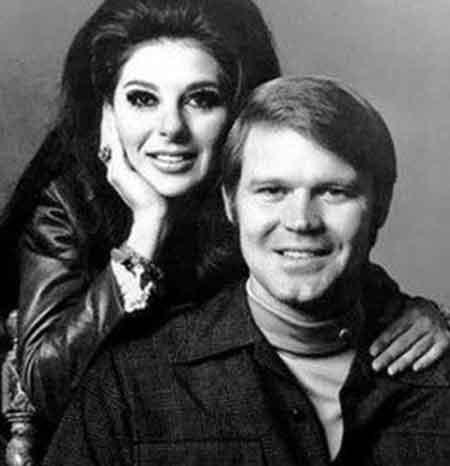 Sarah Barg and her former husband Glen Campbell