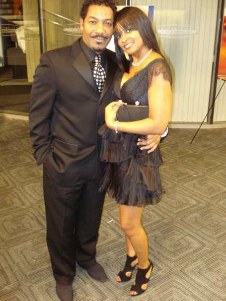 Keith Washington with his current wife, Stephanie Grimes after attending an award ceremony.