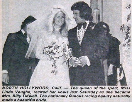 Linda Vaughan with Bill Tidwell in marriage ceremony