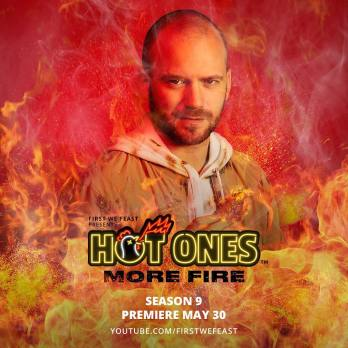 Sean in the cover page of Hot Ones