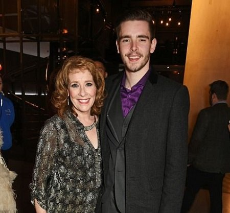 Phyllis Logan and her son