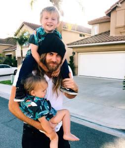 Brock O'Hurn and his nephews.