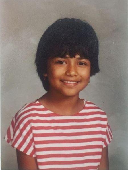 Childhood photo of Karen David.
